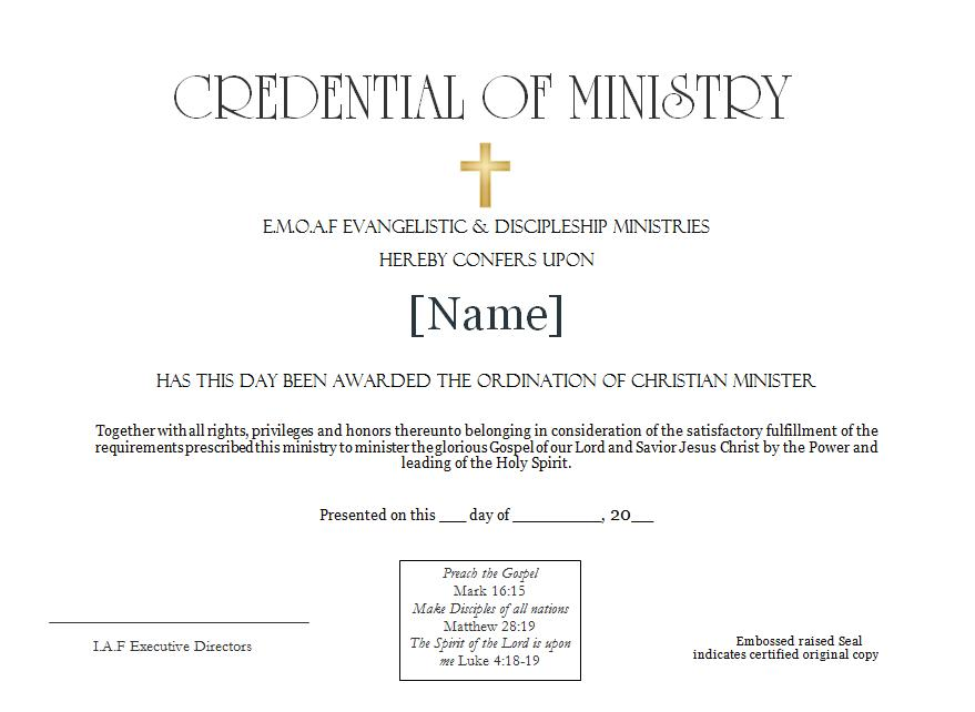 Christian Ordination Services